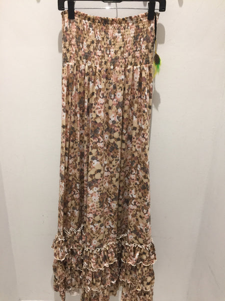 WW Long Mix Flower Dress