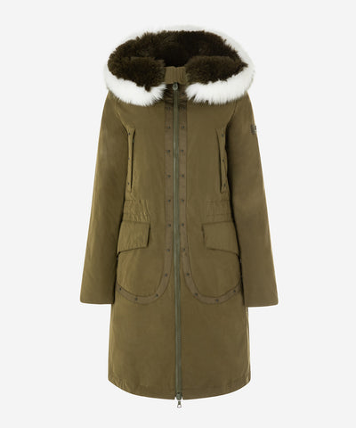 Peuterey Parka in Poplin with Small Studs on The Front Side