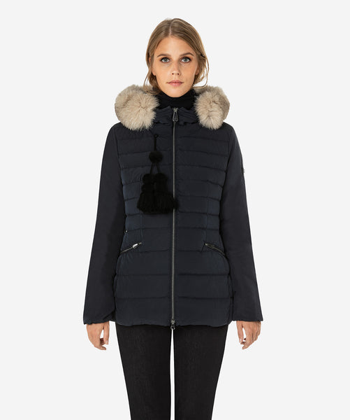 Peuterey Slim Fit Down Jacket with Fur