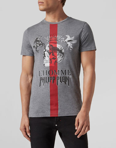 Philipp Plein T-shirt Platinum Cut Round Neck Jungle