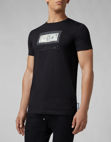 Philipp Plein T-shirt Platinum Cut Round Neck Dollar