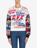 Love Moschino Logo Racing Stretch Sweatshirt