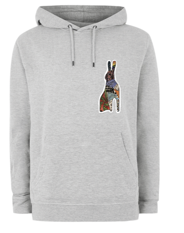 niche Original Kids' Drawing Rabbit Hoodie