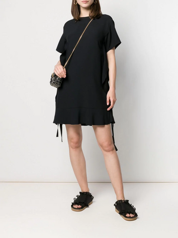 Red Valentino Ruffled T-Shirt Dress