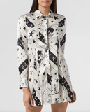 Philipp Plein Shirt Dress Stars And Skull