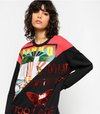 Pinko SWEATSHIRT WITH PRINT AND LETTERING