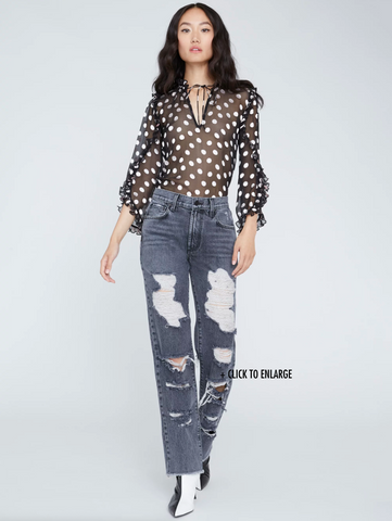Alice Olivia Julius Polka Dot Blouse