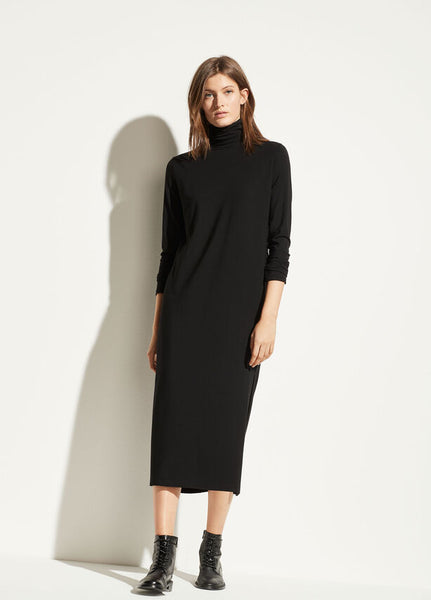 Vince Long Sleeve Turtleneck Dress