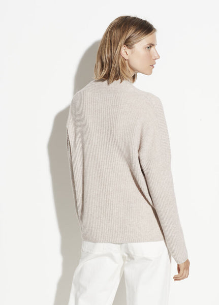 Vince Wool Cashmere Ribbed Button Cardigan