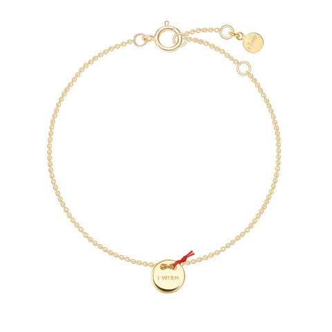 "Le Loup "" I Wish""  Gold Circle Bracelets"