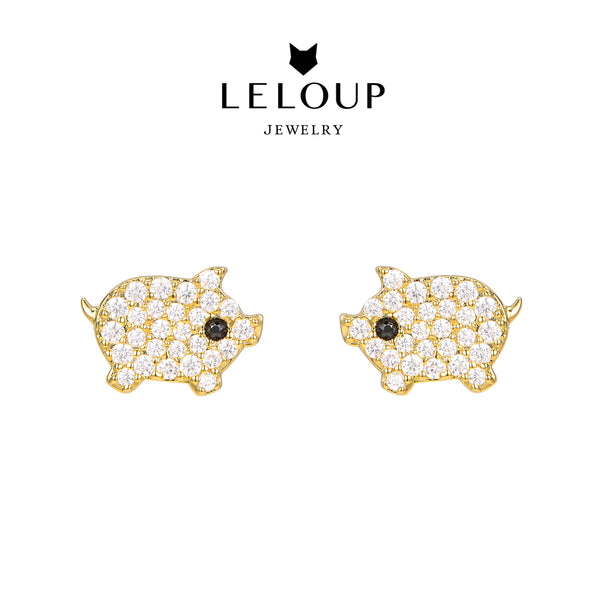Le Loup Piggy Earring Gold