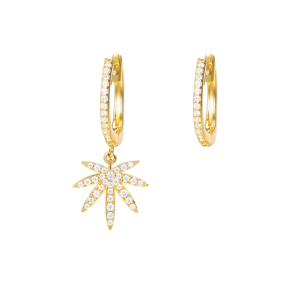 Le Loup Tropical Leaf Earring Gold