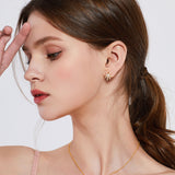 Le Loup Tropical Leaf Earring Gold Left