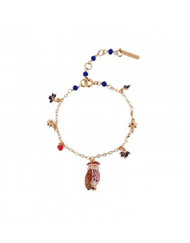 Les Nereides Eagle Owl and Charms Bracelet