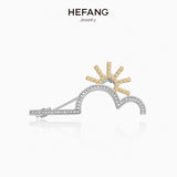 He Fang Sunrise Brooch