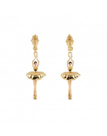 Les Nereides Golden Toe-dancing Ballerina Earrings
