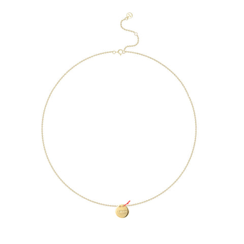 "Le Loup "" I Wish""  Gold Circle Necklace"