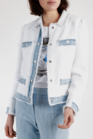 Weill Jacket White/Light Denim