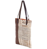 """Anne"" Hemp Batik Bag w/ Jungle Vine pockets"