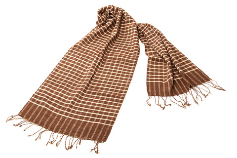 """Kramar"" Scarf - in brown plaid"