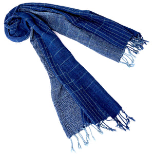 """Ocean Deep"" Large Cotton Scarf"