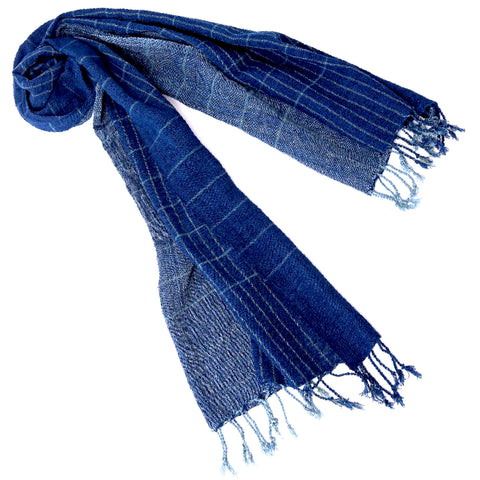 """Maine Coast"" Scarf ""Ocean Deep"" (large)"