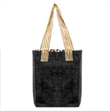 """Happy Hemp"" Tote - Limited Edition Black with Hmong pattern"