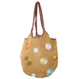 "Joy Oy's ""Circles"" hobo bag w/ Hand embroidered and beads"