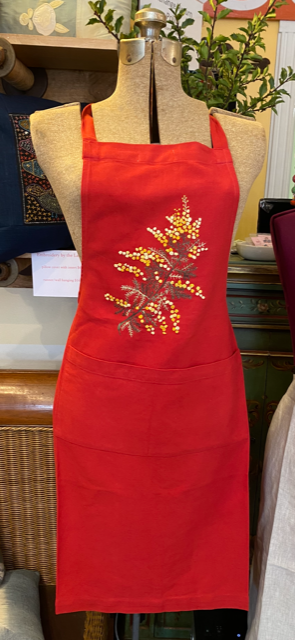 Aprons NEW! Hand Embroidered Cotton and Linen