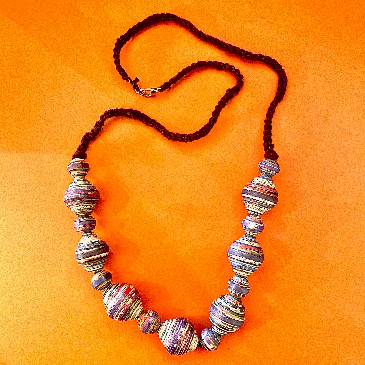 Upcycled Paper Necklaces from the Lao Women's Center