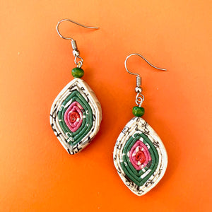 Upcycled Paper Earrings from the Lao Women's Center