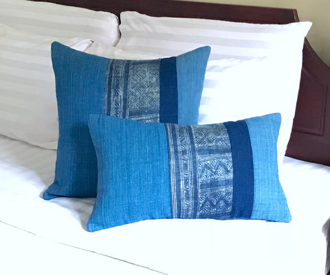 """Boho"" Batik & Cotton Pillow Covers"