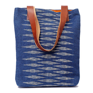"""Lilly"" Tote, with Leather or Fabric straps"