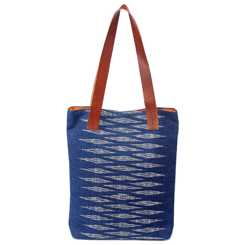 """Lilly"" Large Tote, with leather straps"