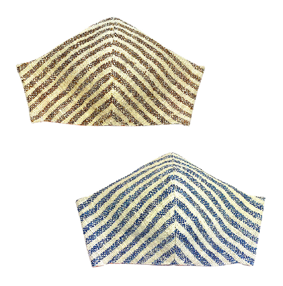 """Shoreline Stripes"" Cotton Masks"
