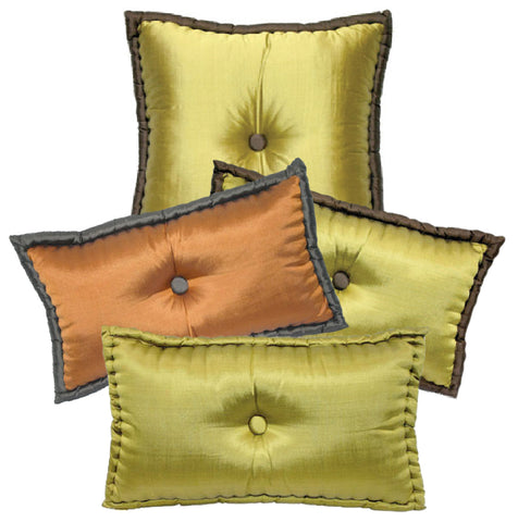 Hand-Tufted Silk Pillows in Retro French Style
