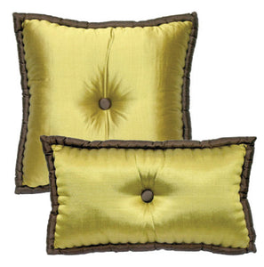 Silk Pillows Tufted in Retro French Style