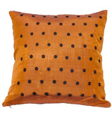 "Joy Oy's ""Dottie"" Pillow Covers, Darks w/ black polka dots 18""x18"""
