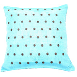 "Joy Oy's ""Dottie"" Pillow Covers, brights w/ brown polka dots 18""x18"""