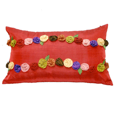 "Joy Oy's ""Jenny"" Pillow Covers, Silk Blend 12""x20"""