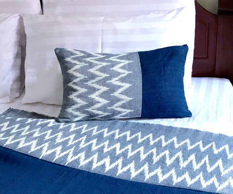 """Peaks"" Ikat Pillow Cover 12x20"""