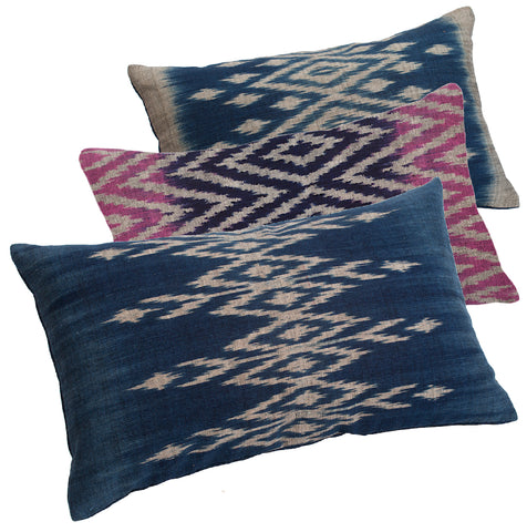 """Savannakhet"" Pillow Covers in 3 Year-round Colors"