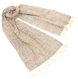 """Shoreline Stripes"" Scarf/Table runner-- in brown or blue"