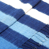 """Sky"" Scarf with Ikat Bands of Indigo- BEST SELLER"