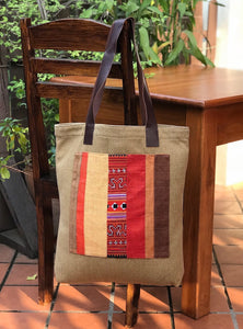 """Sapa"" Small & Large Totes - Vintage Hmong & Canvas"