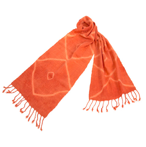 """Shiburi"" Scarf- Orange"
