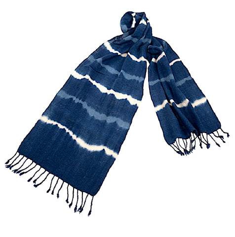 """Shiburi"" Scarf with lines pattern"