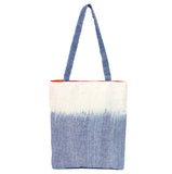 """Waves"" Tote w/ fabric straps PLUS bonus pouch"