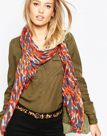 Best Colorful Scarves Fall 2015
