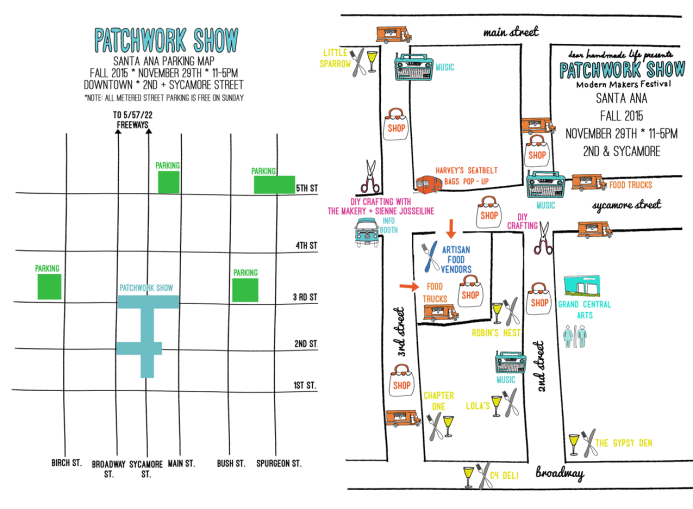 Patchwork Show Santa Ana Map